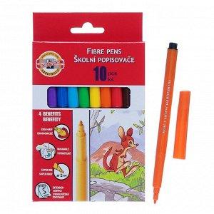 Фломастеры 10 цветов Koh-I-Noor 1002/10, картонная упаковка, европодвес