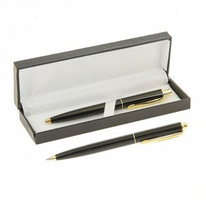 Ручка шариковая, подарочная, автоматическая, в кожзам футляре, «Джокер», чёрный с золотом