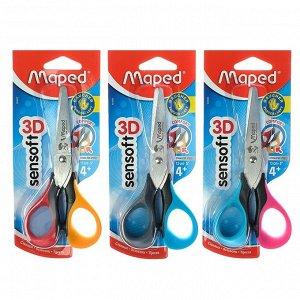 Ножницы детские 13 см Sensoft, симметричные для левшей, МИКС