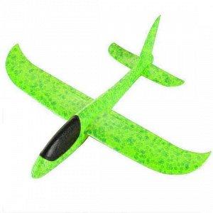Самолет-аэроплан, светящийся зеленый