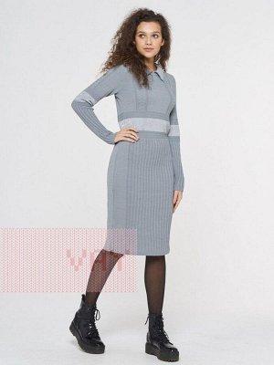 Платье женское-. Цвет: 174/А19 стальной/пайетки серый