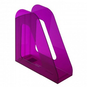 Лоток для бумаг вертикальный «Фаворит», тонированный, фиолетовый, Слива