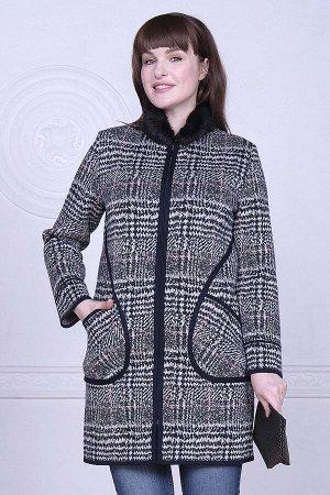 Пальто Пальто А-95/черно-розовый микс  Состав:30% Шерсть 70% Пан Длина изделия:90 см Длина рукава:длинный рукав Пальто женское вязаное, предназначено для носки в демисезонный период. Пальто удлинённо