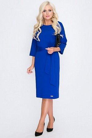 Платье Платье из плотного трикотажа,прямого силуэта, со спущенным плечом.Пояс в комплекте.  Состав: 30% вискоза 65% п/э,5% эластан