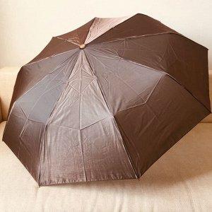 Зонт Цвет купола зависит от условий освещения. Женский зонт в 3 сложения, полный автомат. Модель прочная, надёжная. Каркас зонта выполнен из 9 спиц, за счет чего зонт имеет хорошую натяжку купола и вы