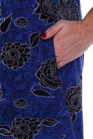 Платье легкое, синий