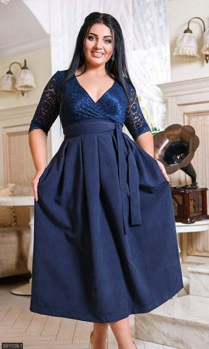 Платье 881109-1 синий Зима-Весна 2020 Украина