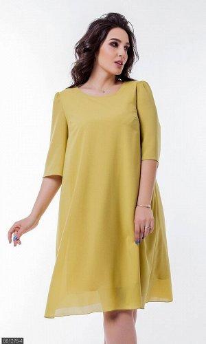 Платье 881275-4 желтый Весна Украина