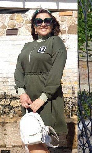 Платье 880698-4 зеленый Осень-Зима 2019 Украина