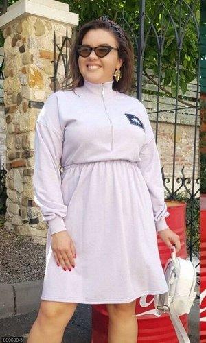 Платье 880698-3 сиреневый Осень-Зима 2019 Украина