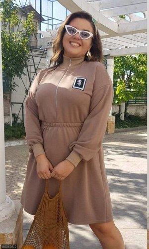 Платье 880698-2 бежевый Осень-Зима 2019 Украина