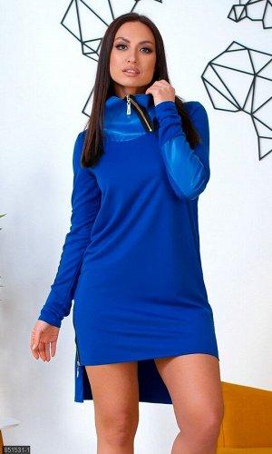 Платье 851531-1 синий Весна Украина