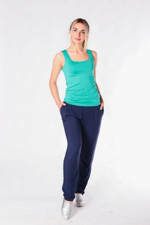 Женские брюки (летние, свободные, из штапеля)