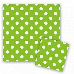 Салфетки горошек зеленый 33см x 33см