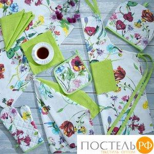 Набор кухонный «Цветы» Прихватка, Варежка, Полотенце - 2 шт