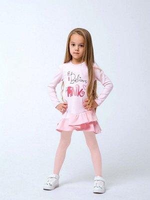120256 Платье для девочек Розовая полоска