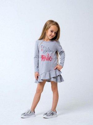 120256 Платье для девочек Серый меланж