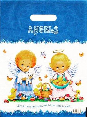 """Пакет ПВД с вырубной ручкой """"Ангелочки"""""""