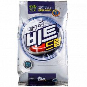 LION Концентрированный стиральный порошок «BEAT DRUM» , мягкая упаковка, 2,5 кг.