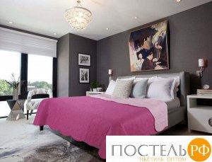 10033 Покрывало Amore Mio Термостежка однотонная Quartz Микрофибра Евро Фуксия/розовый