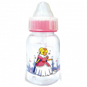 """Сказка Детская бутылочка(рожок) для кормления рисунок """"Принцесса"""" 125 мл 1122"""