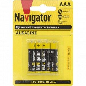 Батарейки Navigator 61 462 NBT-NPE-LR03-BP4 (40)(Цена за 4 шт.)