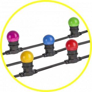 Гирлянда Navigator 61 554 NGF-01-100-40-E27-BL 100м, 250 патронов (Цена за  100 м) без ламп