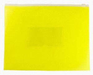 Папка на молнии ZIP Бюрократ Double Neon DNEBPM5AYEL A5 полипропилен желтый карм.для визит. цвет мол