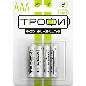Батарейки ТРОФИ LR03 - 4 BL ECO (40)(Цена за 4 шт.)