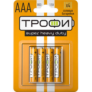 Батарейки Трофи R03-4BL(Цена за 4 шт.)