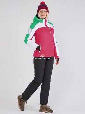 Женский зимний костюм горнолыжный розового цвета 019601R