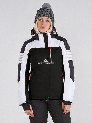 Женская зимняя горнолыжная куртка черного цвета 19601Ch