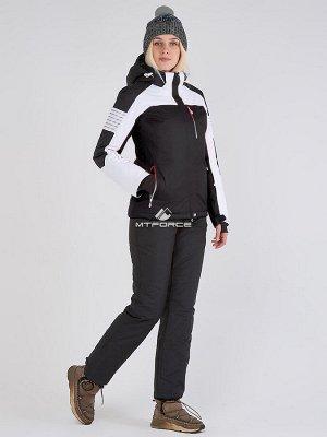 Женский зимний костюм горнолыжный черного цвета 019601Ch