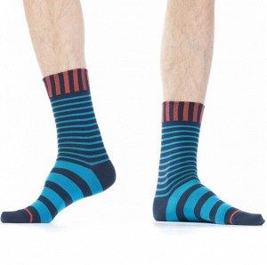 """Носки Хлопковые мужские носки с комфортной широкой резинкой """"в полоску"""". Вся модель декорирована контрастным рисунком в виде горизонтальных полосок.  Состав: Хлопок 83%, Полиамид 15%, Эластан 2%  О ма"""