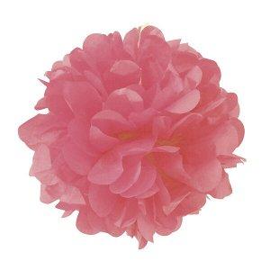 Помпон бумажный 20 см розовый