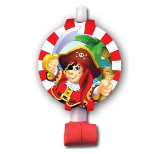 Язычок-гудок Веселый Пират 6 шт