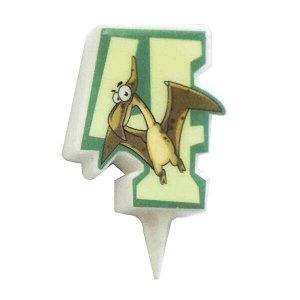 Свеча Цифра 4 Динозавр 5 см