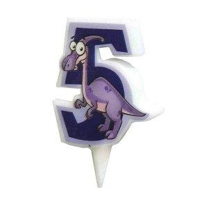 Свеча Цифра 5 Динозавр 5 см