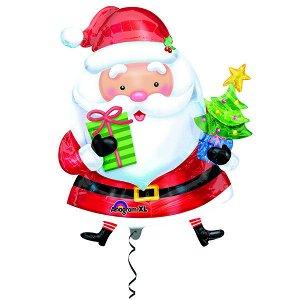 Фигура Новый Год Санта с ёлочкой 71 см Х 71 см