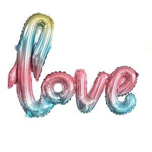 Фигура буквы LOVE Радужная 51 см Х 105 см
