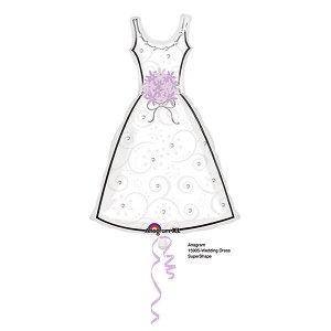 A Фигура Свадебное платье белое 91см X 61см