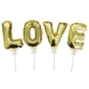 Шар самодув Love Gold 16 см