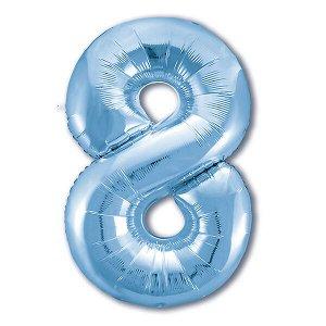"""Фигура Цифра 8 Светло-Голубой 40""""/102 см"""