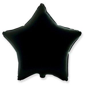 """Звезда BLACK 18""""/45 см фольгированный шар"""