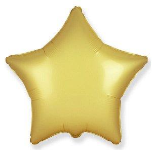 """Звезда GOLD 18""""/45 см фольгированный шар Пастель сатин"""