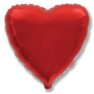 """Мини Сердце RED 9""""/23 см фольгированный шар"""