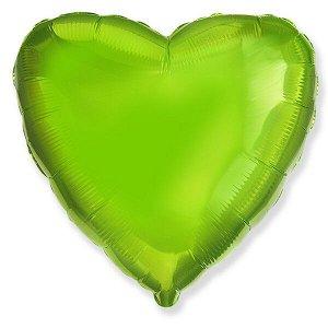"""Сердце LIME GREEN 18""""/45 см фольгированный шар"""