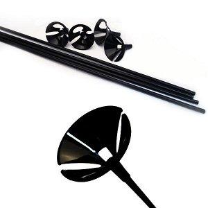 Комплект Палочка 54см+Зажим Черный Макси 40 шт/уп