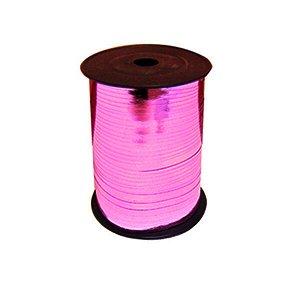 Лента Металлизированная для шаров Розовая