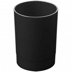 """Хит продаж Вспомни СТАММ - 2%  Подставка-стакан Стамм """"Офис"""", пластик, круглый, черный"""